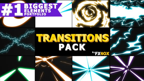 Thumbnail for Handy Electric Transitions | Motion Graphics Pack