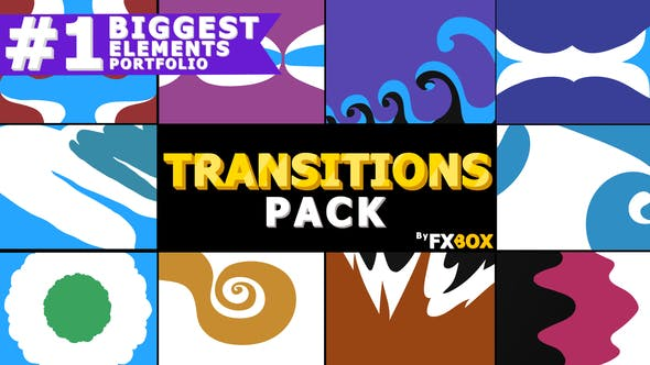 Thumbnail for Funny Cartoon Transitions | Motion Graphics Pack