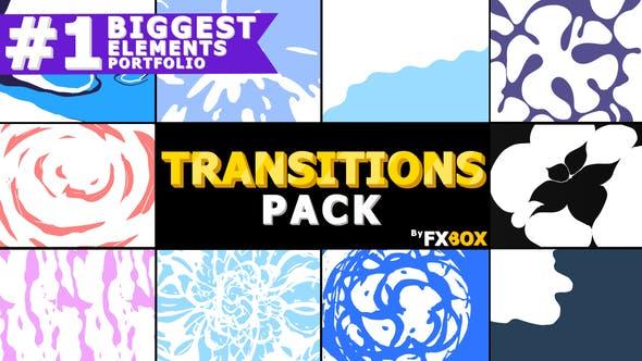 Transitions liquides dessinées à la main   Graphiques animés Pack