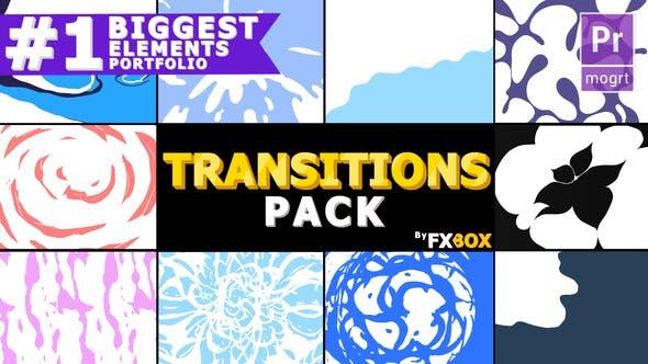 Thumbnail for Hand Drawn Liquid Transitions   Premiere Pro MOGRT