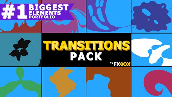 Thumbnail for Liquid Motion Transitions | Motion Graphics Pack