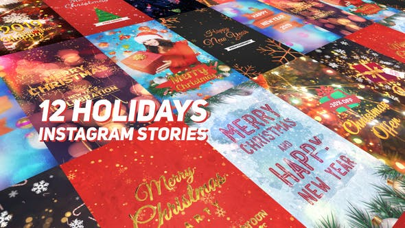 Thumbnail for Holidays Instagram Stories Pack