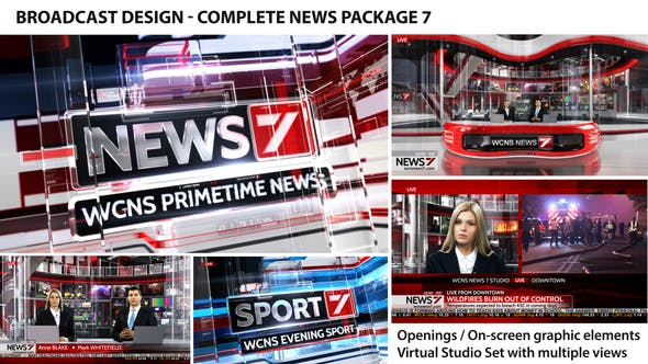 Thumbnail for Broadcast Design - Complete News Package 7