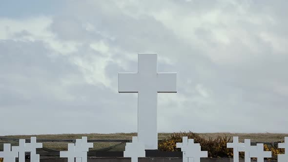 Thumbnail for Great White Cross in the Argentine Falklands Cemetery.