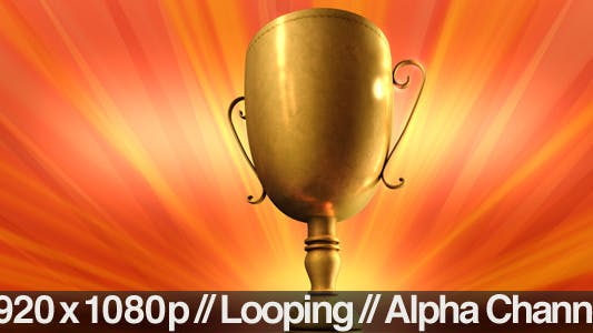 Thumbnail for Gold Trophy Spinning Loop + Alpha Channel