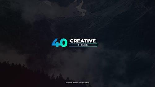 Titres créatifs