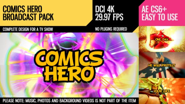 Thumbnail for Comics Hero (Broadcast Pack)