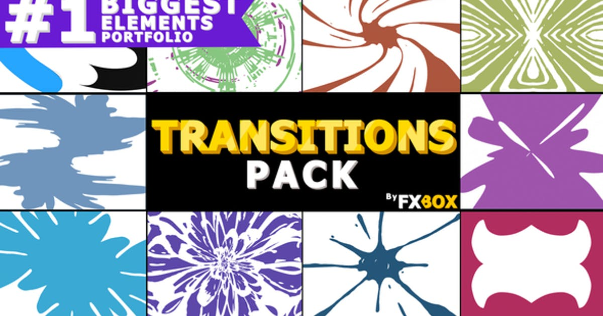 Download Hand Drawn Transitions Pack by FlashFXbox