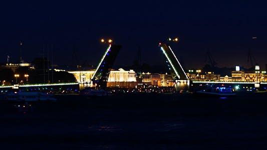 """Thumbnail for Drawbridge """"Palace Bridge"""" In White Night"""