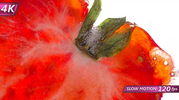Thumbnail for Squeeze Half Of Delicate Strawberries