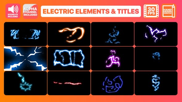 Thumbnail for Flash FX Electric Elements Transitions And Titles | After Effects
