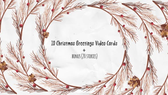 Thumbnail for Christmas Greeting Video Cards