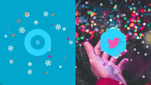 Snowflakes Logo Reveal