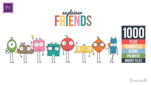Thumbnail for Explainer Friends Essential Graphics | Mogrt