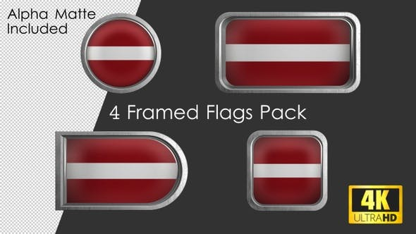 Thumbnail for Framed Latvia Flag Pack