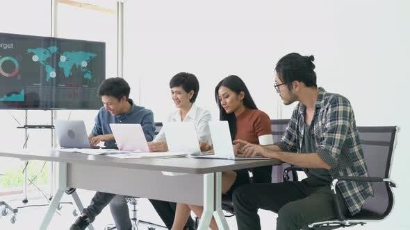 Marketing team working