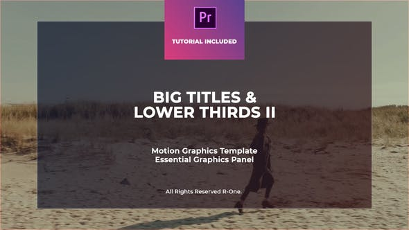Thumbnail for Big Titles & Lower Thirds II MOGRT
