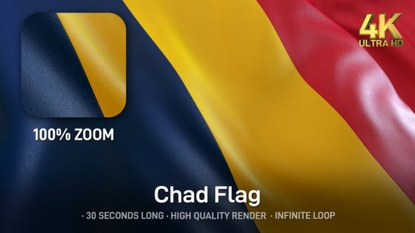 Thumbnail for Chad Flag - 4K