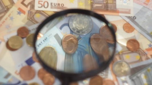Thumbnail for Euro Cash Through Magnifying Glass