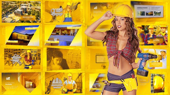 Thumbnail for Construction Presentation - Building Promo