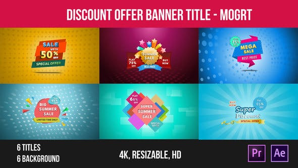 Thumbnail for Discount Offer Banner Title – Mogrt