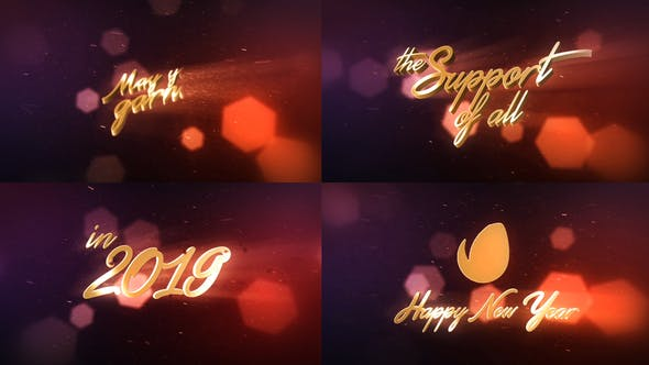 Thumbnail for New Year Wishes | 3D Logo Text