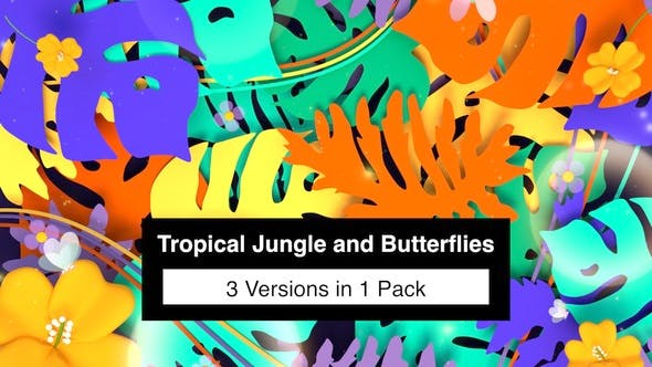 Thumbnail for Tropical Jungle And Butterflies Pack