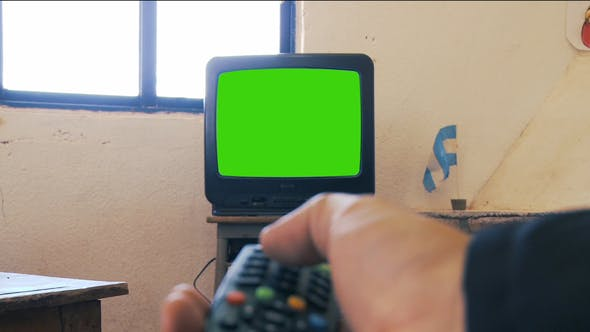 Thumbnail for Watching Old TV Green Screen.