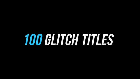 Thumbnail for 100 Glitch Titles │ After Effects Version