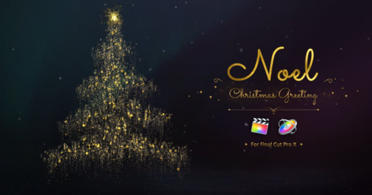 Download Noel - Christmas Greetings for Final Cut Pro by Pixflow