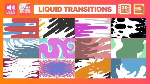 Thumbnail for Transitions Liquid Motion | After Effects