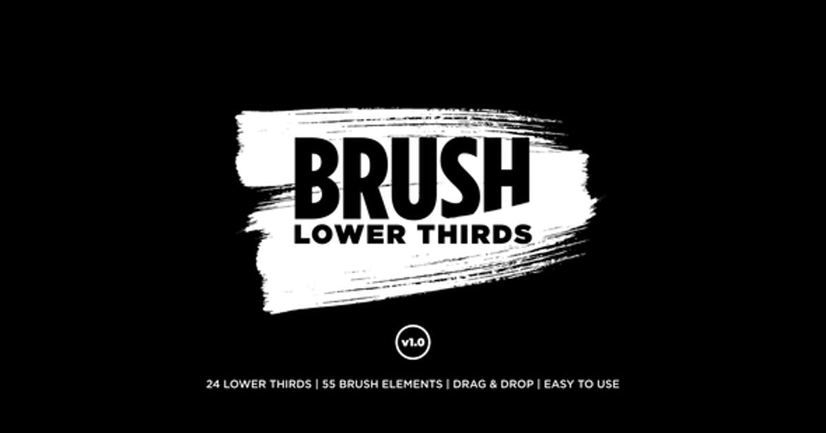Download Brush Lower Thirds by flikmotion