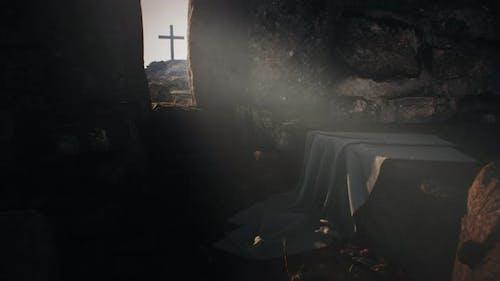 Rock Opening Into Jesus Christ Tomb