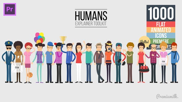 Thumbnail for Humans Explainer Essential Graphics | Mogrt
