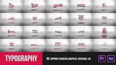 Typography Essential – Mogrt