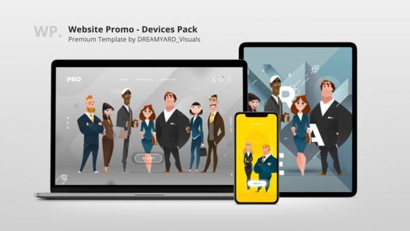 Website Promo - Devices Mock-up Pack