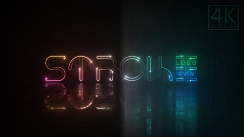 Neon Stroke Logo