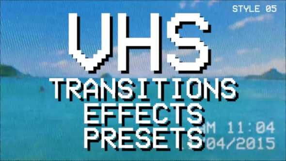 VHS Pack: transitions, effects, presets