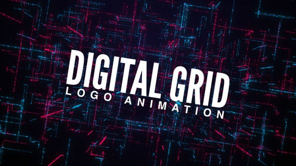 Thumbnail for Digital Grid Logo Animation