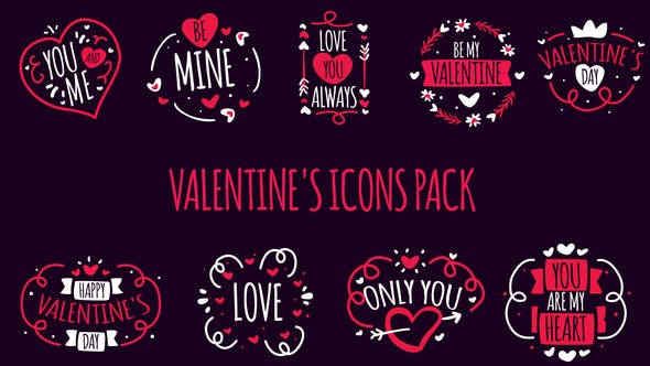Thumbnail for Valentine's Icons Pack