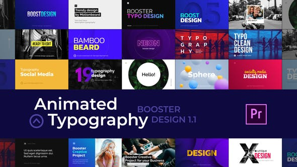 Cover Image for Creative Animated Typography - For Premiere Pro