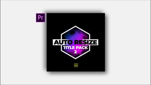 Auto Resize Modern Title Pack 2