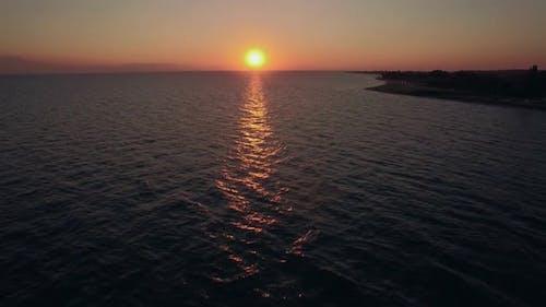 Skyline Seascape Ar Sunset, Aerial