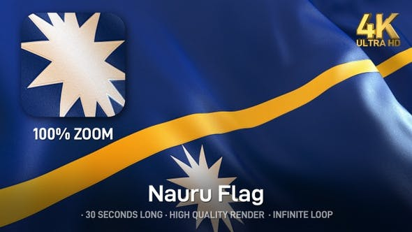 Thumbnail for Nauru Flag - 4K