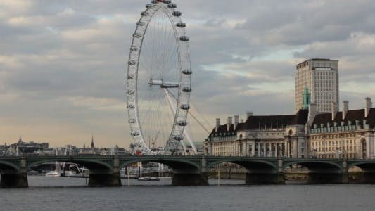 Thumbnail for London Eye Cloudy Evening Time lapse