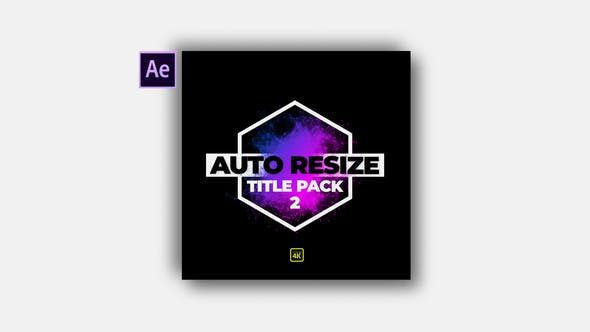 Thumbnail for Auto Resize Modern Title Pack 2