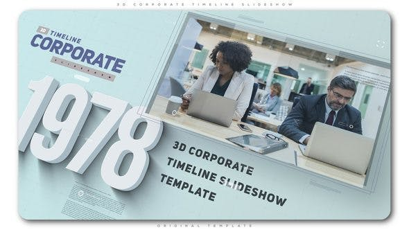 Cover Image for 3D Corporate Timeline Slideshow