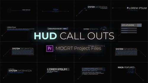 HUD Call Outs For Premiere Pro