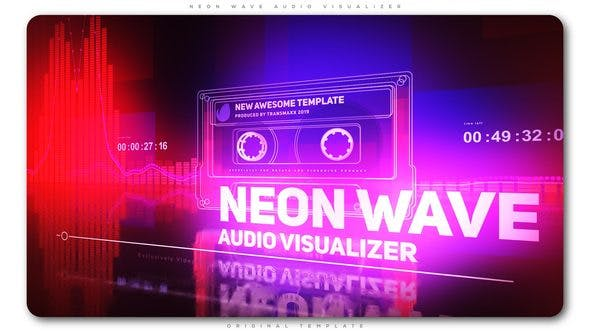Thumbnail for Neon Wave Audio Visualizer