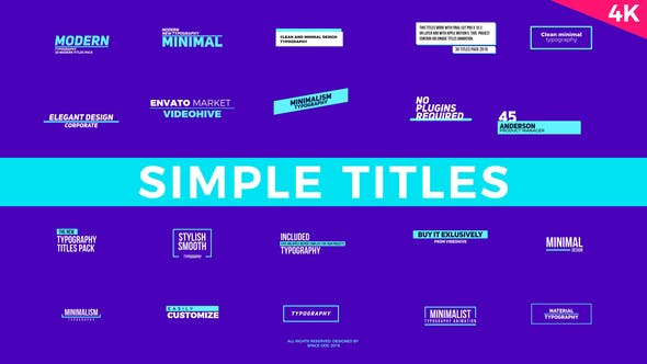 Thumbnail for Simple Titles | FCPX or Apple Motion